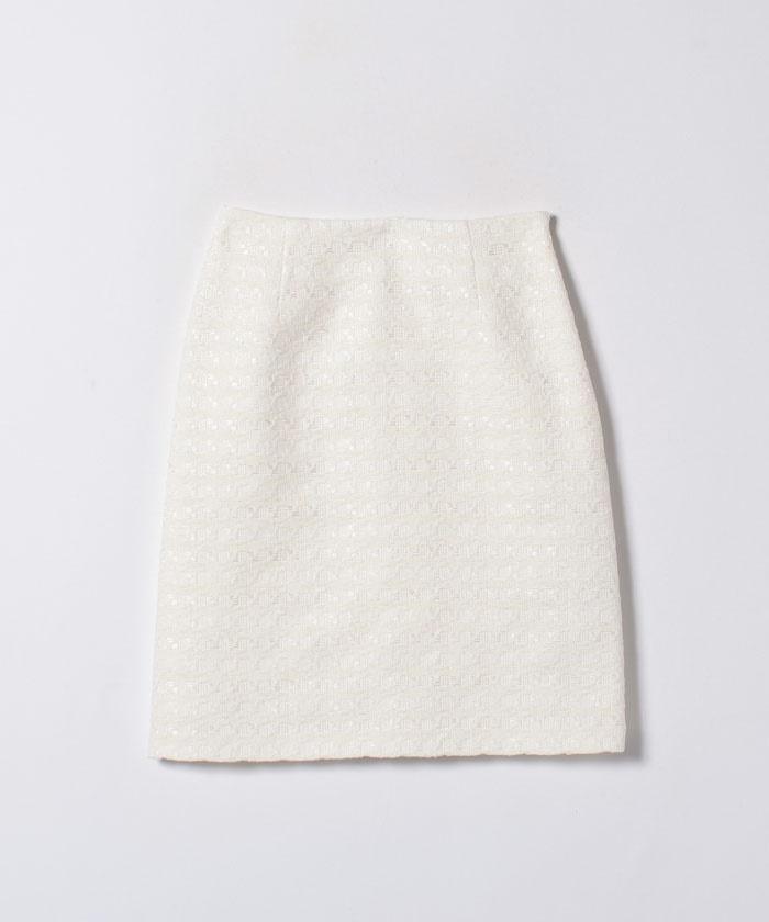 【セットアップ対応商品】テープヤーンツイードAラインスカート