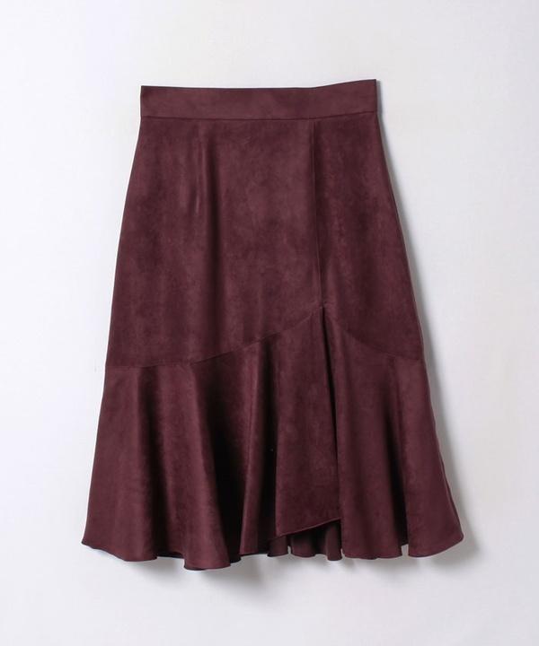 フェイクスエードスソペプラムスカート