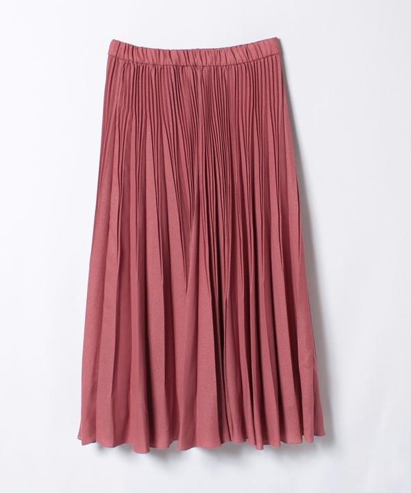 プラチナジョーゼットプリーツスカート