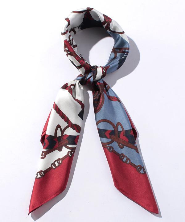 シルクキーモチーフスカーフ