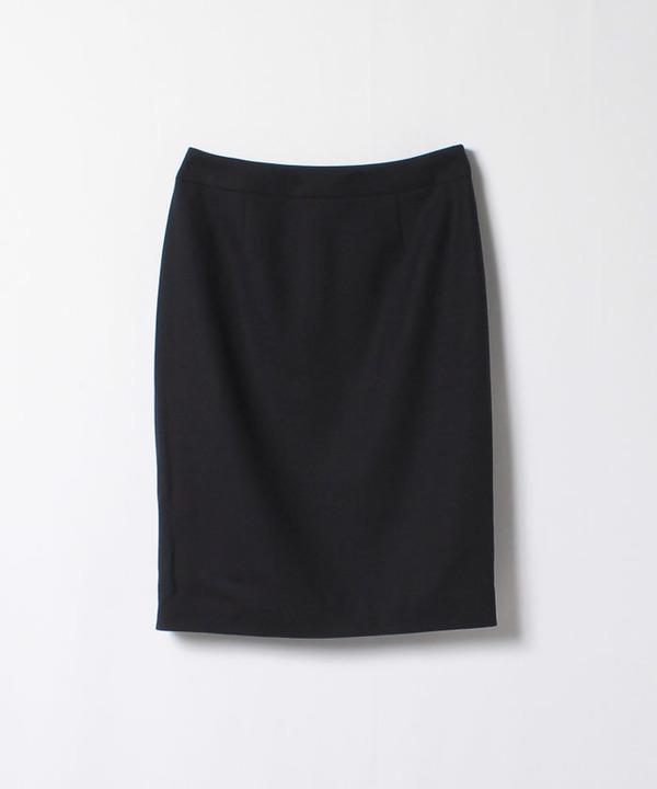 【セットアップ対応商品】ウールジョーゼットタイトスカート