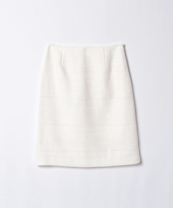 【セットアップ対応商品】レーヨンツイードAラインスカート