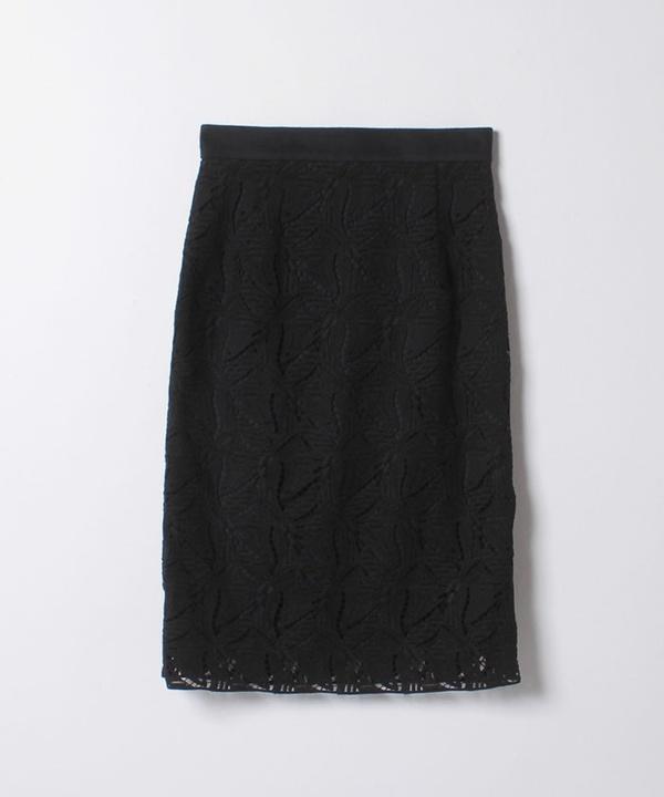 【セットアップ対応商品】リーフレースタイトスカート