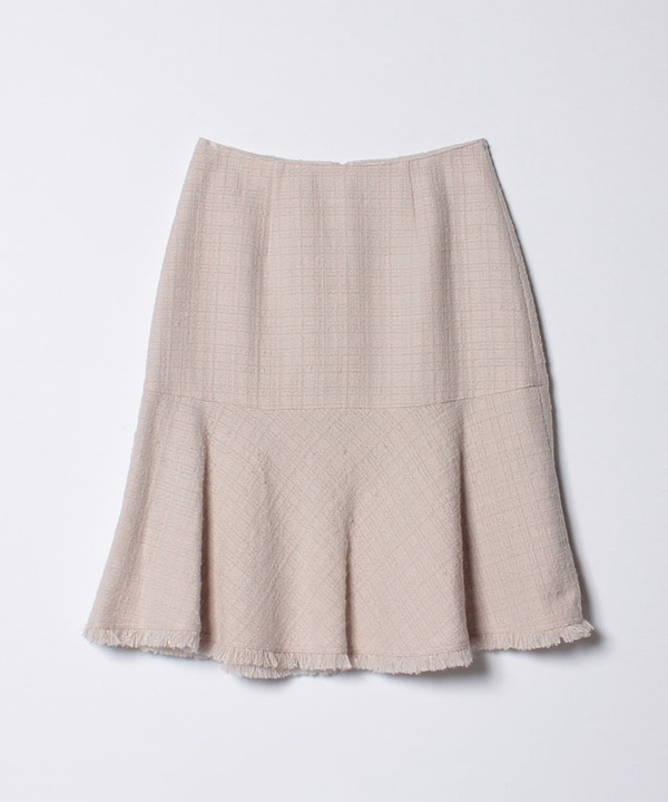 【セットアップ対応商品】スラブツイードペプラムスカート