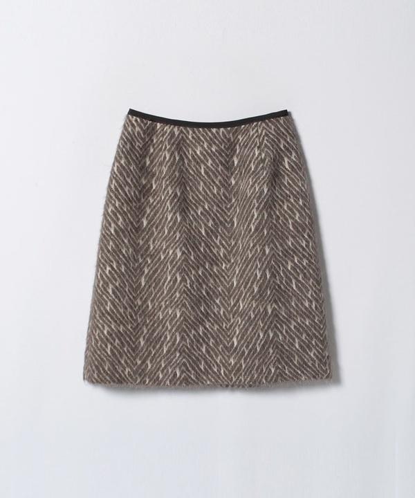 ヘリンボンシャギーAラインスカート