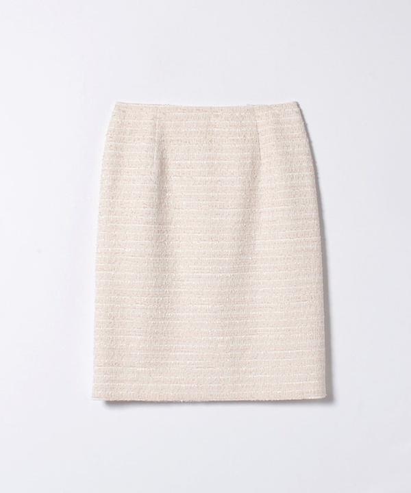 【セットアップ対応商品】フラッグラメツイードAラインスカート