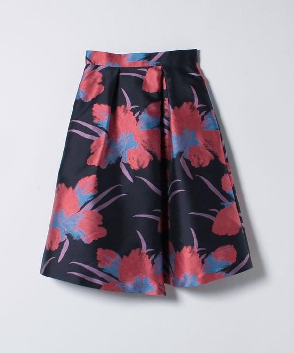 フローラルジャガードアシメスカート