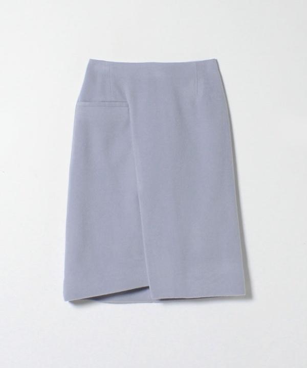 ウールモッサアシンメトリースカート