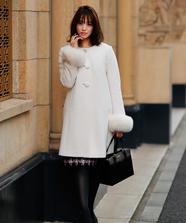 【美人百花 12月号掲載】Ladyノーカラーコート