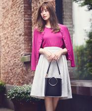 Ladyフラワージャガードスカート