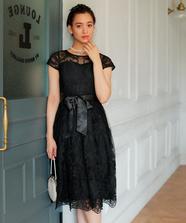 コードレース刺繍ドレス
