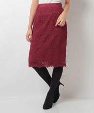縦柄ケミカルタイトスカート