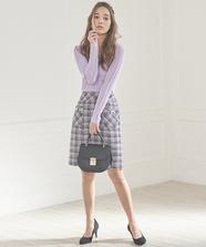 ツィードポケット台形スカート