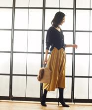 【セットアップ対応商品】スウェードミディスカート