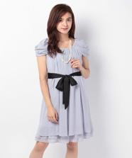 ドレープスリーブ2WAYドレス