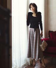 【美人百花 10月号掲載】刺繍入りワイドパンツ