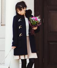 【美人百花 10月号掲載】アンゴラビーバーミニフレアースカート