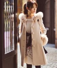 【美人百花 12月号掲載】フード付きAラインコート