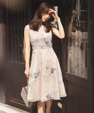 フラワー刺繍ドレス