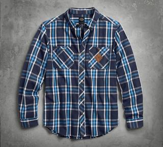 スリムフィットチェックシャツ