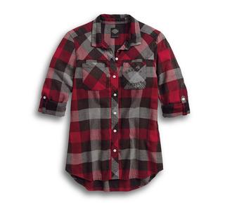 チェックスリムフィットシャツ
