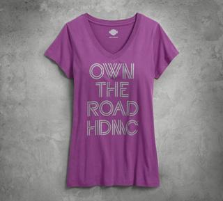 Own the Road VネックTシャツ