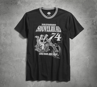 ショベルヘッド74・リンガーTシャツ