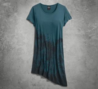 アシンメトリーTシャツドレス