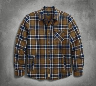 キルトプレイドシャツジャケット