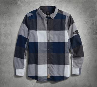 ラージスケールプレイドシャツ