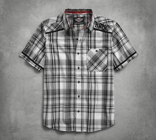 プレイドポプリンシャツ