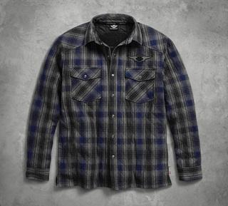 3M Thinsulateインシュレーション付プレイドキルテッド・シャツジャケット