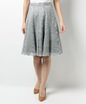 ウールベネシャンストレッチスカート