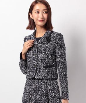 【セットアップ対応商品】スパンコールファンシーツィードジャケット