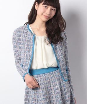 【セットアップ対応商品】ニットツィードカーディガン