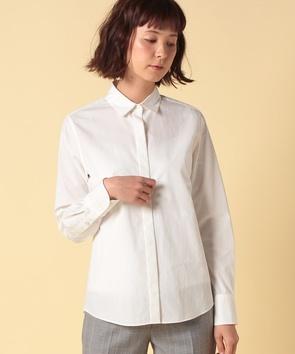 シルクコットンブロードシャツ