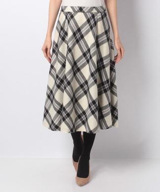 【特別提供品】タータンチェックのフレアースカート
