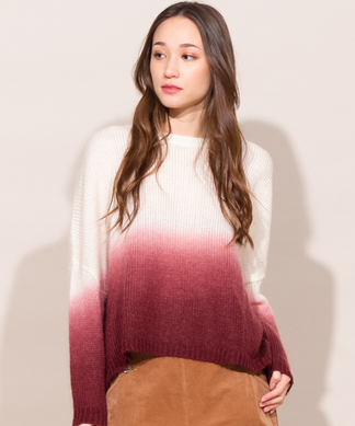 【Webカラー限定】【Bella Jones】グラデーションセーター