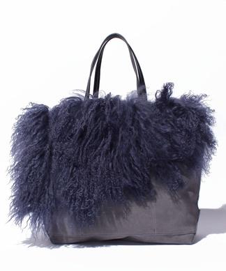 【Le Vernis】ファーモチーフ付きトートバッグ
