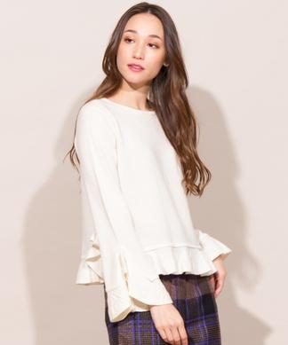 【Webカラー限定】【RESPEC】ぺプラムプルオーバーセーター