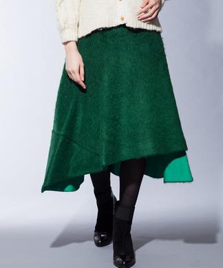 【Web限定】【liina】モヘヤ混イレヘムスカート