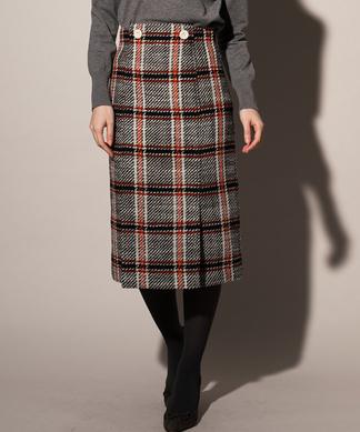 【BE NEAT】チェックタイトスカート