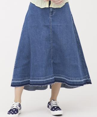 【YANUK】デ二ムフレアスカート