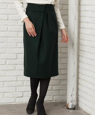 Special Price【Brahmin】ラップデザインウールスカート