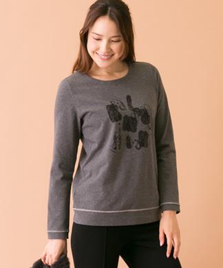 レース刺繍ロゴTシャツ