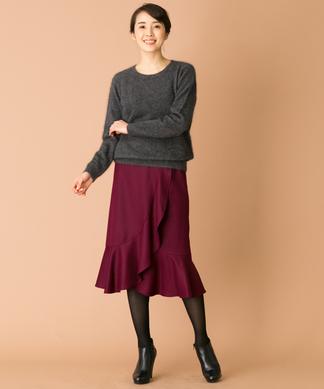 【特別提供品】ラップフレアスカート