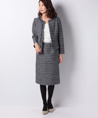 【特別提供品】ノーカラージャケット×タイトスカート