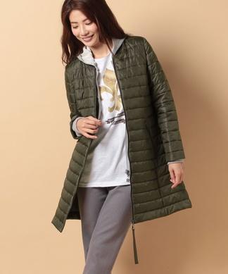 MA-1風ロングキルトジャケット
