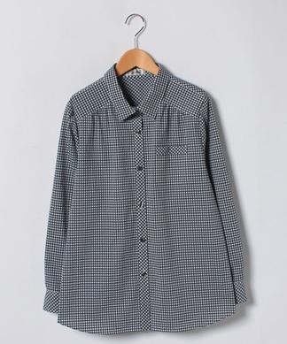 ギンガムチェック柄シャツ