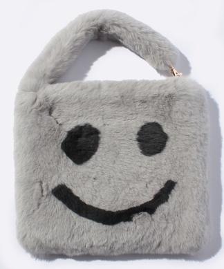 【AーJOLIE】スマイルモチーフハンドバッグ